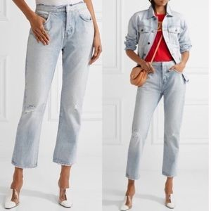 Current/Elliott Jeans - CURRENT ELLIOTT Original Straight Cutoff Waist